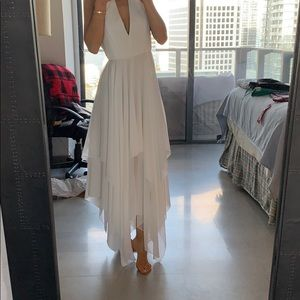 Alice and Olivia white gown